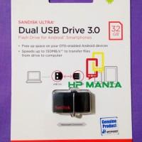 SANDISK USB OTG 3.0 32 GB ULTRA DUAL DRIVE 32GB RESMI FLASHDISK