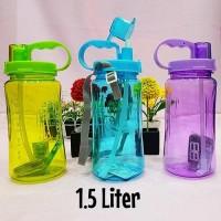 Botol Minum ENJOY LIFE 1.5 Liter - Straw Water Bottle 1500 ML B19-1