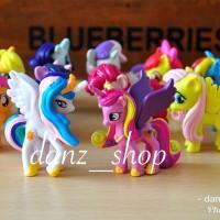 Mainan My Little Pony Set isi 12 Pc - Cake Topper Kuda Pony