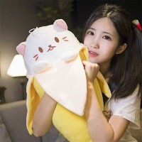 48 - Boneka Bananya Boneka Kucing 50cm Impor Halus Banget