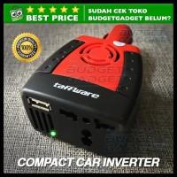 TERMURAH! COMPACT POWER CAR INVERTER 150W 220V AC EU PLUG AND 5V USB