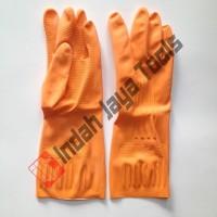 Sarung Tangan Karet Latex Orange / Sarung Tangan Cuci Piring