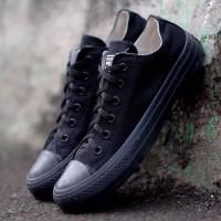 Sepatu Converse All Star Full Black | Hitam Plus Box