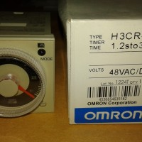 OMRON ANALOG TIMER H3CR-A 48VAC/DC Lot No 1224T 1.2sto300h