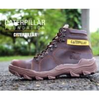 Sepatu Pria Caterpillar Safety Boots Foundation Brown