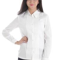harga Adore Kemeja Wanita Lengan Panjang Big Size Lsl Putih Tokopedia.com