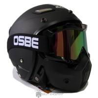 Helm JPN Momo Goggle Mask Retro Jap Style Shark Raw Rainbow Hitam