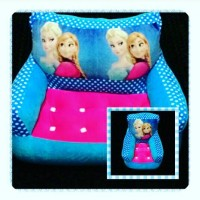 Sofa / kursi Kotak motif Princess Elsa & Anna empuk SNI Single & twin