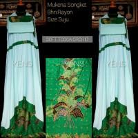 Mukena Batik Songket Bali Jumbo Tosca
