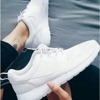 Sepatu Nike Roshe Run Full White Putih Cewe Cowo Pria Wanita Grade Ori