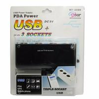 BEST SELLER!!! USB + Triple Car Plug ( Cigarette Lighter Mobil x 3 + U