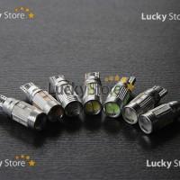 Lampu LED T10 10SMD 5630 / 5730 Lensa 5 Watt Canbus (Metal Socket)