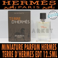 MINIATURE PARFUM TERRE D'HERMES EDT 12.5ML WITH SPRAY ORIGINAL HERMES