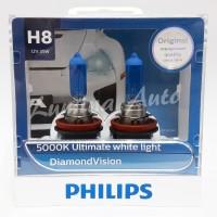 Philips Diamond Vision H8 35 Watt - Lampu Halogen Mobil Putih 5000K