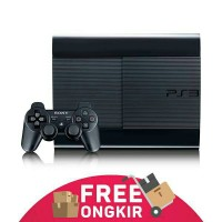 Ps3 Super Slim Asli Sony + Hdd 500gb + 2 Stick Warlles + Full Games