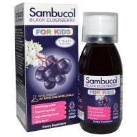 Sambucol, Black Elderberry Immune System Support, For Kids Syrup 120