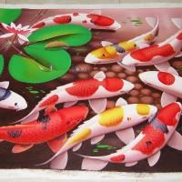 harga Lukisan Ikan Koi 9 Ekor (Cocok utk Fengshui maupun Keindahan Ruangan) Tokopedia.com