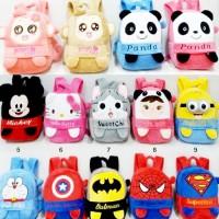 Ransel Boneka Hello Kitty Doraemon Panda Cici yoyo mickey Batman prett