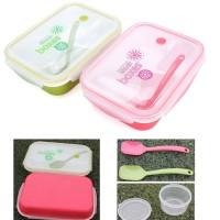 Yooyee Lunch Box Kotak Makan Bento Sekat 4 - 2 Warna (FP000415)