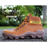 SEPATU BOOTS CATERPILLAR SAFETY FOUNDATION PRIA TAN