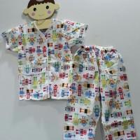 Baju Tidur Anak Laki Laki Piyama Setelan Robot Pakaian Katun Lembut