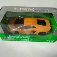 Diecast Welly NEX 1/24 Lamborghini Aventador (Yellow)