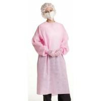 Disposable Gown Pink /Isolation Gown/ Jas Lab Sekali Pakai Warna Pink