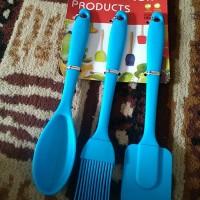 Spatula Set Spoon/Kuas Spatula Silikon Set