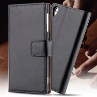 Sony Xperia Z C6602 - C6603 - L36H - Leather Flip Cover Wallet Case
