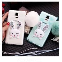 Rabbit Diamond Samsung Galaxy Note 3 4 5 thin Silicone soft case TPU