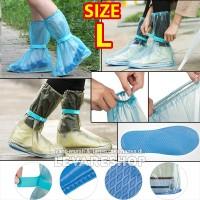 Rain Shoes Cover Jas Hujan Sepatu Anti Air (setinggi boots) SIZE L