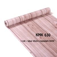 WALLPAPER KMK 630 KAYU COKLAT (L 45CM X Panjang 5M)