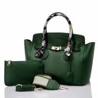 Hermes Tutty 6298 fashion bag tas selempang dan hand bag hijau hitam