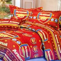 Sprei ukuran 120 x 200 Arsenal / bed cover bantal / jersey / club bola
