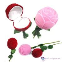 Kotak Cincin Tangkai Bunga Merah Bunga Valentine