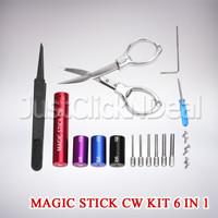 Magic Stick CW Jig Coil Winder Kit 6 In 1 Vape Tools RDA RTA RDTA RBA