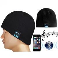 Topi Ajaib bs putar lagu Bluetooth Knit Beanie with Hands-free Calls