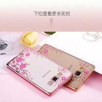 Samsung J710/ J72016 Silicon Flower Bling Soft Case Diamond Casing