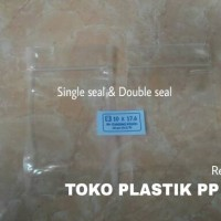 Jual Plastik Klip Kemasan Berdiri / Standing Pouch 10 x 17,6 Cm Bening Murah