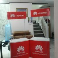 Termurah Event desk/meja jualan/booth PVC/meja promosi + stiker + cet