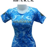 harga Kaos Gym Baju Us Army Loreng Tentara Fitnes Wanita Zumba Senam Yoga Tokopedia.com