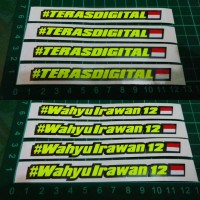 Cutting Sticker custom Nama bendera INA custom name pembalap