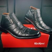 harga Sepatu Kickers Boot Pantofel Hitam Kerja Pria Tokopedia.com