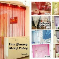 Colorful yarn Curtain / Tirai hias polos / gorden benang warna