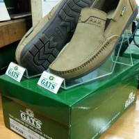 Sepatu Merk Gats Ori Cowok Santai Kulit Slop Termurah Olive HK 0002