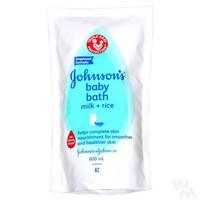 Johnson's Johnson Baby Bath Milk + Rice Refill 600ml