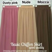 harga Rok Sifon Chiffon Skirt High Recommended Tokopedia.com