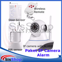 PAKET IP CAMERA ALARM SECURITY HD 720P PTZ WIFI DUAL ANTENNA
