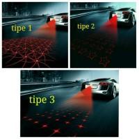 Car laser fog light / Brake laser fog lamp / Lampu rem laser kabut