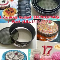Jual 1 Set Loyang Cake Brownies Bulat Bundar Bongpas Murah